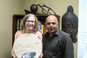 Dr. Jani & Eileen Wilkinson, Expressive Arts Volunteer.